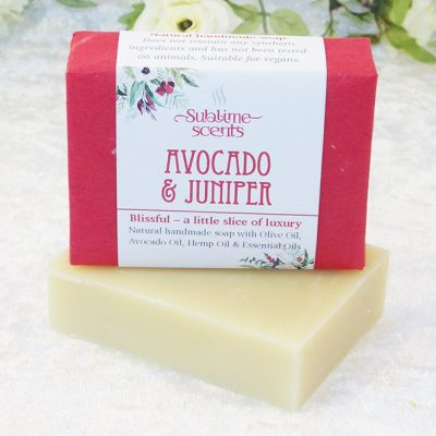 avocado & juniper soap