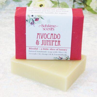 avocado & juniper soap