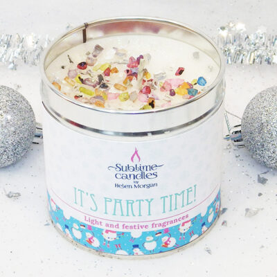 Its Party Time candle