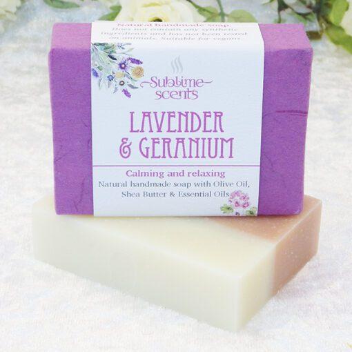 lavender & geranium soap