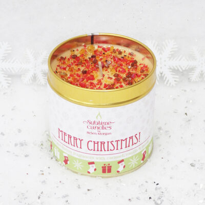 merry christmas candle
