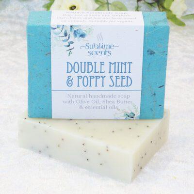 mint & poppy seed soap