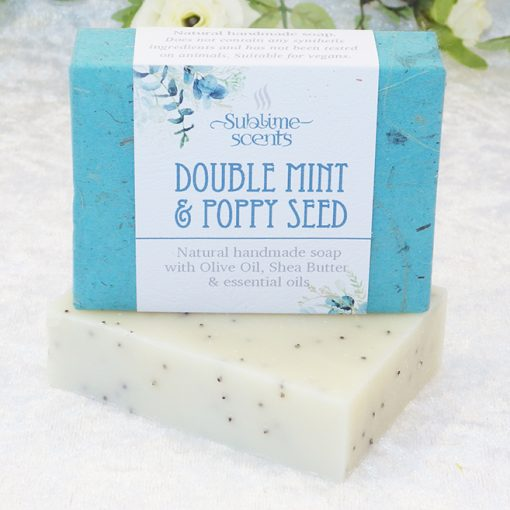 mint & poppy seed soap