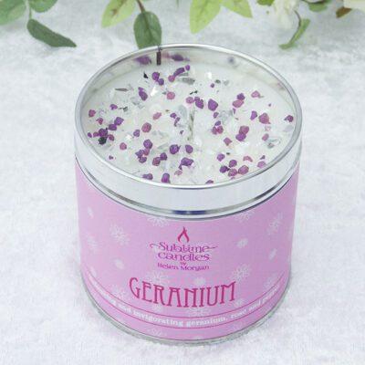 geranium candle