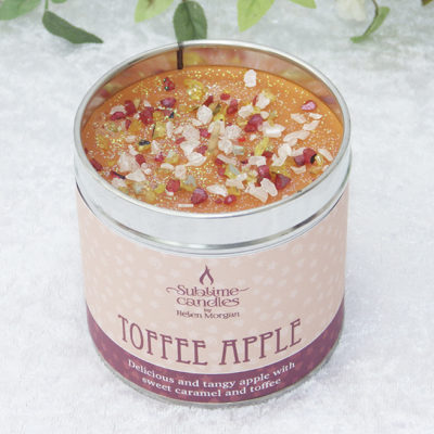 toffee apple candle