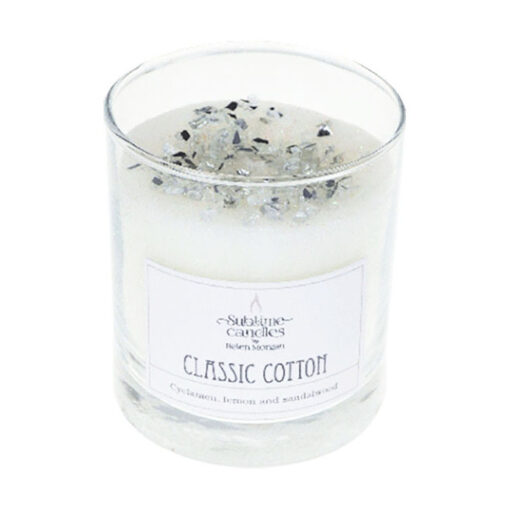 Cotton glass candle