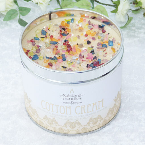 cotton cream candle