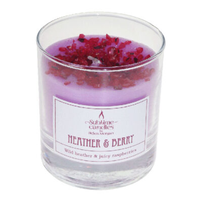 heather & berry glass candle