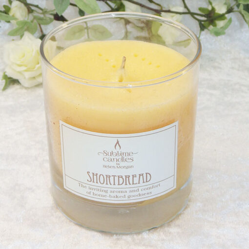 shortbread glass candle