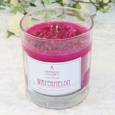 watermelon glass candle