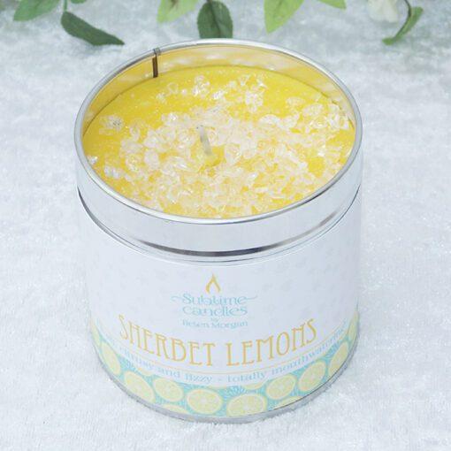 sherbet lemons candle