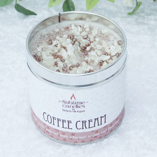 coffee cream candle