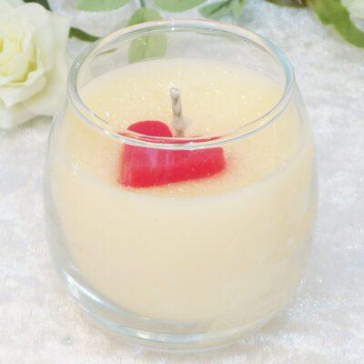 love hearts votive candle