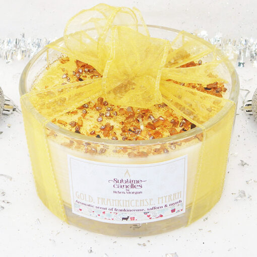 Gold & Frankinsence 5-wick candle