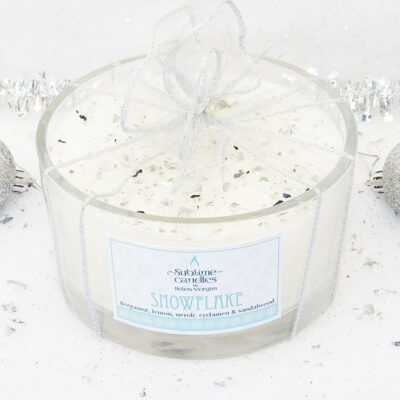 Snowflake 5-wick candle