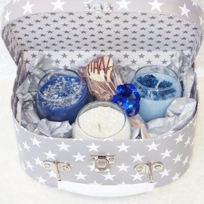 Cool blue votive gift box