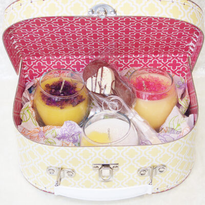 floral votive gift box